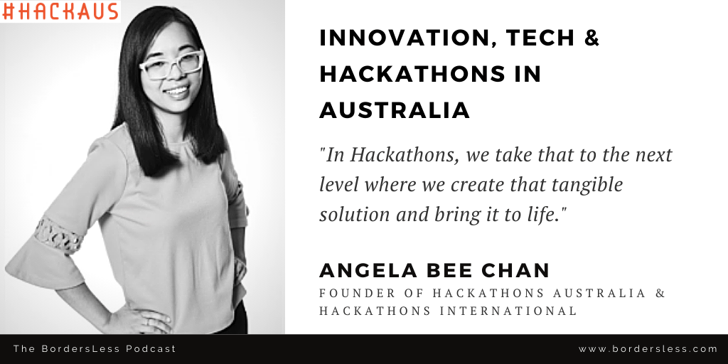 Read more about the article Innovation, Tech & Hackathons: Angela Bee Chan (Hackathons Australia)